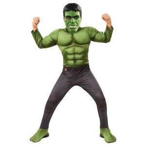 Boys Hulk IW Muscle Deluxe Costume S 4/6 Halloween